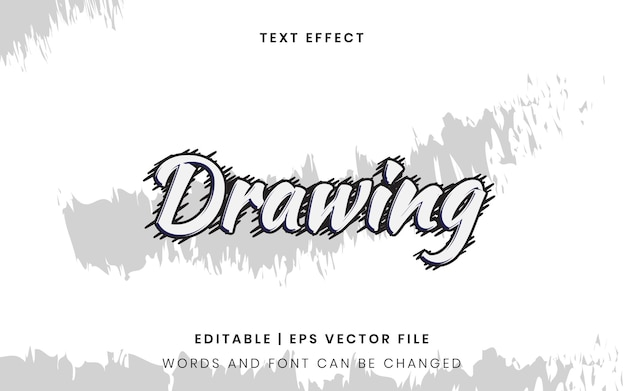 Drawing text effect