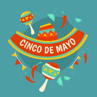 Drawing with cinco de may concept