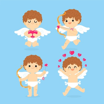 Drawing with cupid character collection
