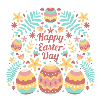 Drawing with happy easter day design