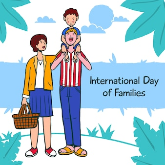 Drawing withinternational day of families