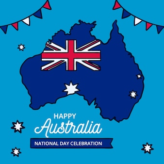 Drawing with national australia day