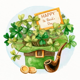 Drawing with st. patricks day theme