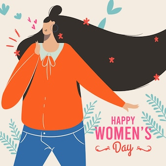 Drawing with women day theme