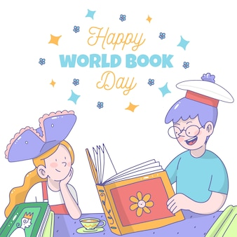 Drawing with world book day concept