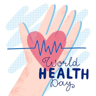 Drawing of world health day celebration