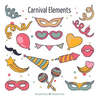 Drawings carnival elements