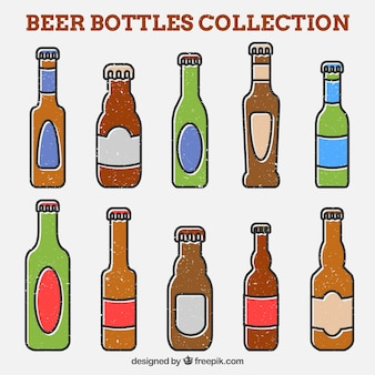 Чертежи старинных пивных бутылок