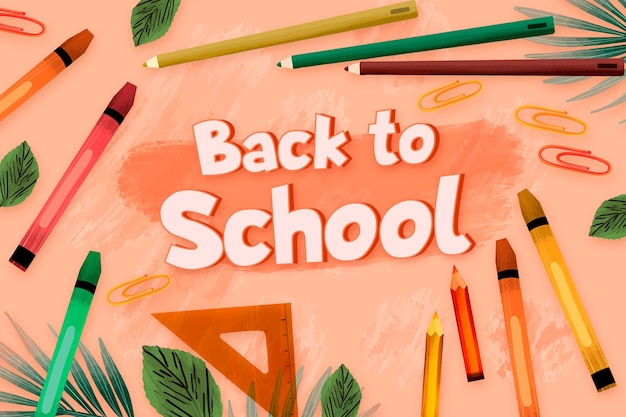 Drawn back to school background