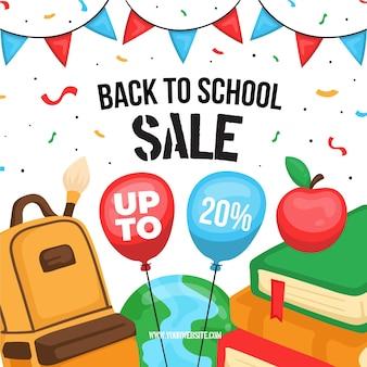 Drawn back to school sales illustration