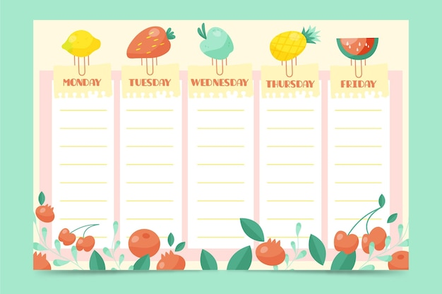 Drawn back to school timetable