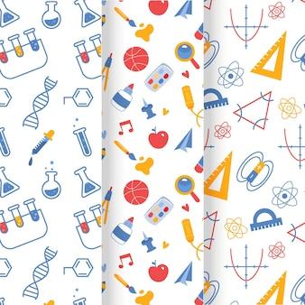 학교 패턴 컬렉션으로 다시 그린