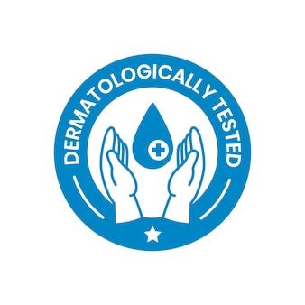描かれた青い石鹸のロゴのテンプレート