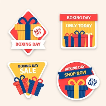 Drawn boxing day sale labels collection