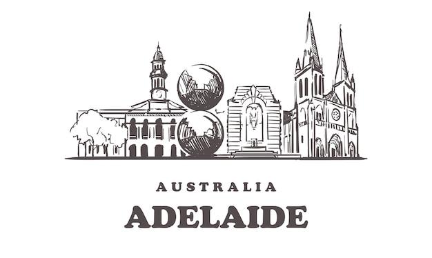 Нарисованные здания в аделаиде, австралия