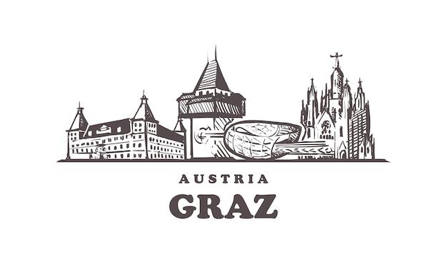Нарисованные здания в граце, австрия