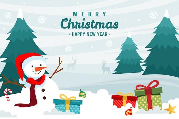 風景に描かれたクリスマスの背景