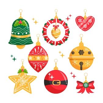 Ornamenti di palla di natale disegnati