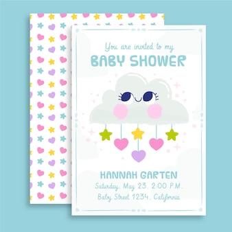 Scheda dell'acquazzone di bambino di chuva de amor disegnata