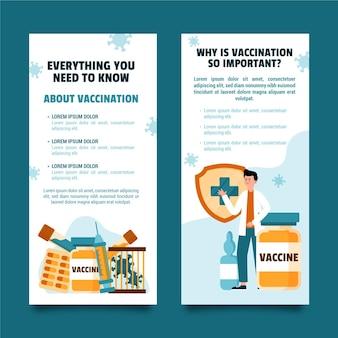 Brochure informativa sulla vaccinazione contro il coronavirus disegnata