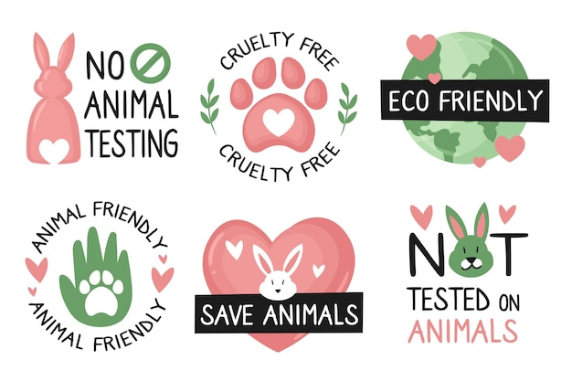 Drawn cruelty free badge pack