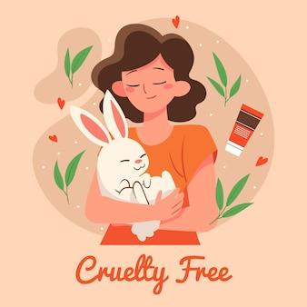 Drawn cruelty free and vegan illustration