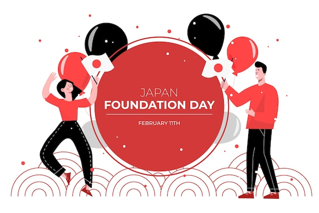 Drawn foundation day illustration