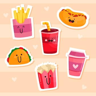 Drawn funny sticker pack