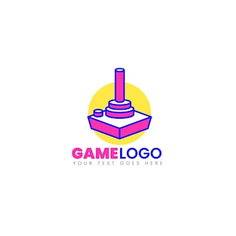 Drawn gaming logo template