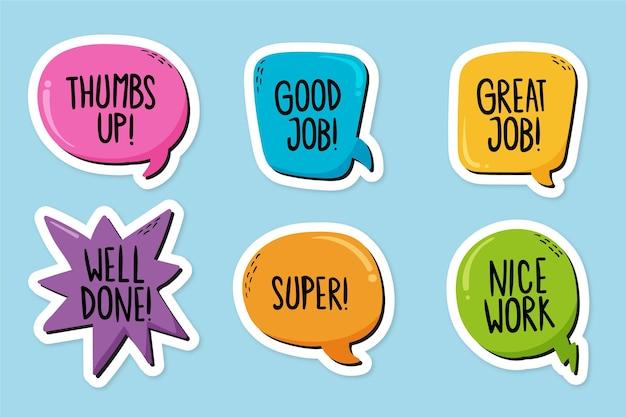 그린 좋은 직업과 훌륭한 직업 스티커 팩