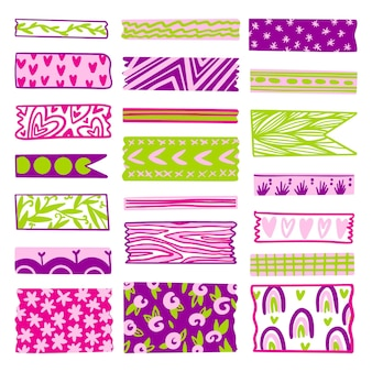 Drawn lovely washi tapes collection