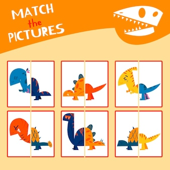 Gioco di abbinamenti disegnato per bambini