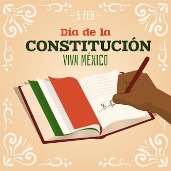 그려진 멕시코 헌법의 날 배경