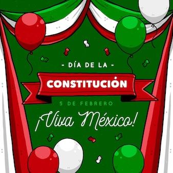Нарисованная иллюстрация дня конституции мексики