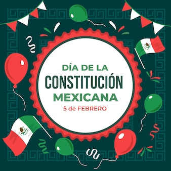 Drawn mexico constitution day