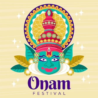 Drawn onam event theme