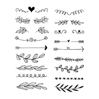 Drawn ornamental divider collection