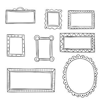 Набор нарисованных декоративных рамок