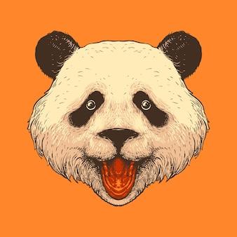 Нарисованная рукой иллюстрация головы панды