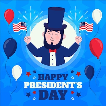 Drawn president's day event promo illustrated