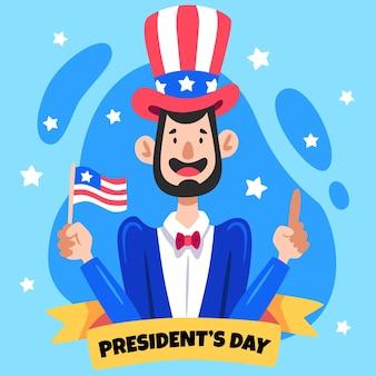 Illustrazione disegnata del giorno del presidente