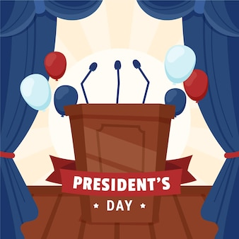 Drawn president's day promo