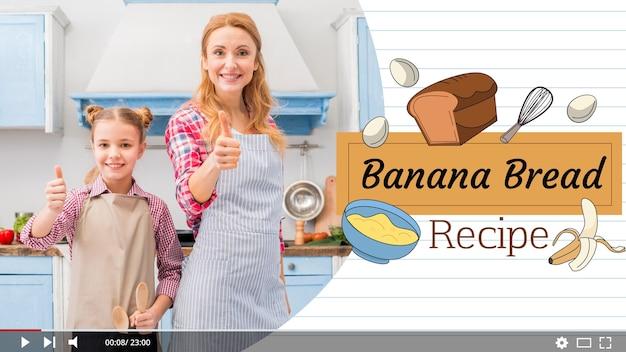 Шаблон эскизов нарисованных рецептов на youtube