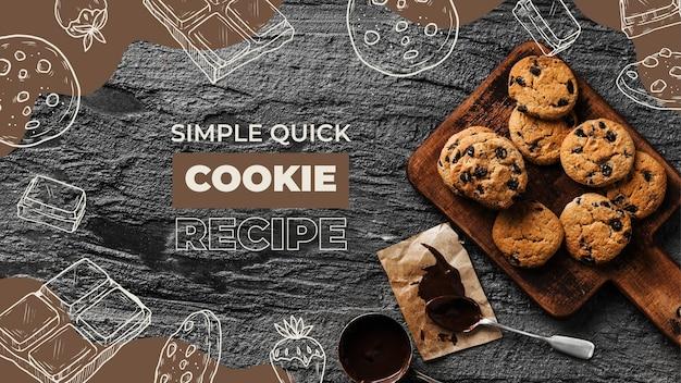 Drawn recipes youtube thumbnail template