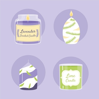 Drawn scented candle pack