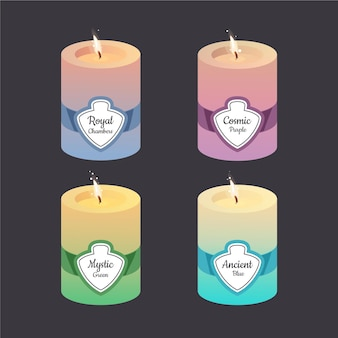 Drawn scented candle set
