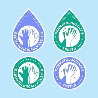 描かれた石鹸のロゴのテンプレートコレクション