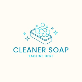 Drawn soap logo template
