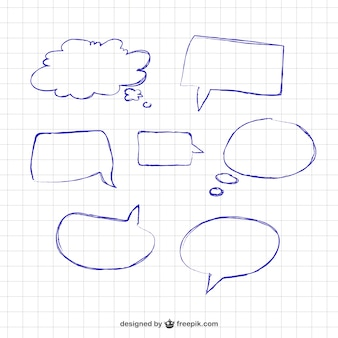 Drawn speech bubbles
