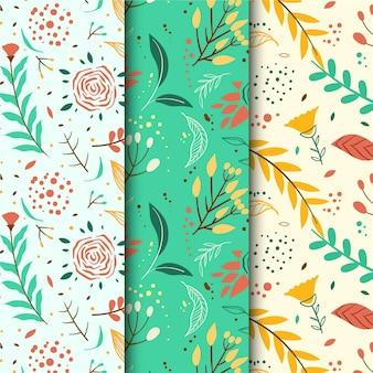 描かれた春のパターンコレクション